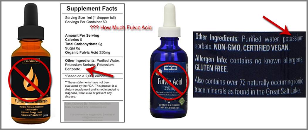 fulvic acid pills vs drops